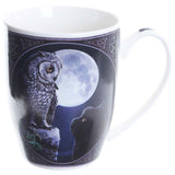 Lisa Parker Purrfect Wisdom Owl and Cat Mug | Angel Clothing