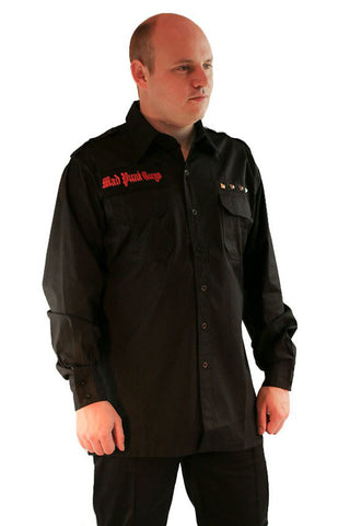 Queen Of Darkness Mad Punk Guys Mens Button-down Goth Shirt | Angel Clothing