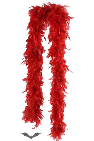 Queen Of Darkness - Red Feather Boa - Angel Clothing