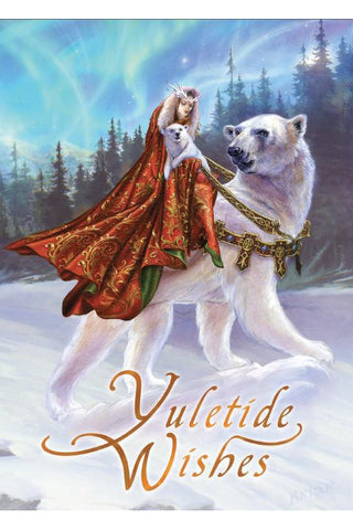 Queen of the Aurora Bears Yuletide Card | Angel Clothing