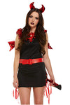 Red and Black Sexy Devil Halloween Fancy Dress Costume | Angel Clothing