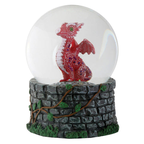 Red Baby Dragon Water Globe | Angel Clothing