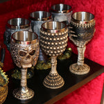 Red Dragons Claw and Warrior Skull Gothic Goblet | Angel Clothing
