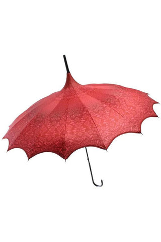 Red Patterned Pagoda Umbrella / Parasol | Angel Clothing