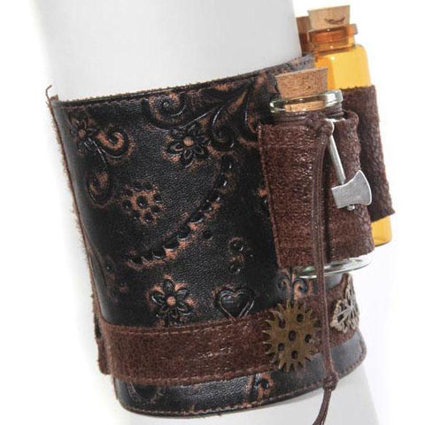 RQBL Steampunk Wrist Cuff | Angel Clothing