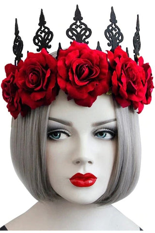 Red Rose Gothic Crown | Angel Clothing
