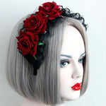Red Rose Lolita Headband | Angel Clothing
