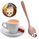 Gothic Skull Sugar Spoon Rose Gold | Angel Clothing