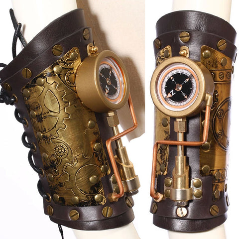 RQBL Steampunk Arm Gauntlet Compass LED | Angel Clothing