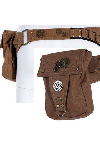 RQBL Khaki Steampunk Belt | Angel Clothing