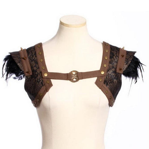 RQBL Brown Steampunk Bolero | Angel Clothing