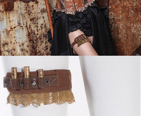 RQBL Steampunk Bullet Garter SP031 | Angel Clothing