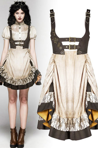 Punk Rave Saturna Dress Cream | Angel Clothing