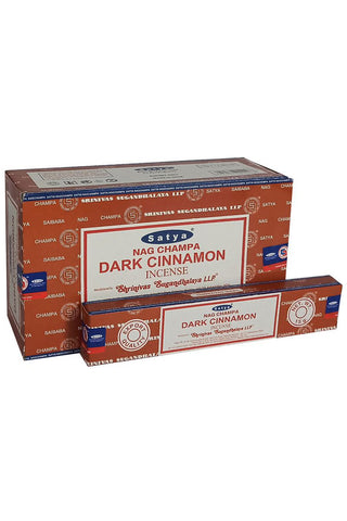 Satya Dark Cinnamon Nag Champa Incense Sticks | Angel Clothing