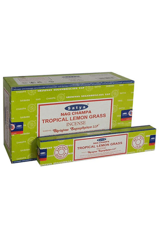 Satya Tropical Lemon Grass Nag Champa Incense Sticks | Angel Clothing