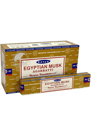 Satya VFM Egyptian Musk Nag Champa Incense Sticks | Angel Clothing