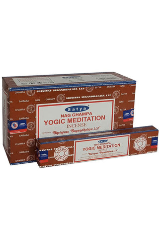 Satya Yogic Meditation Nag Champa Incense Sticks | Angel Clothing