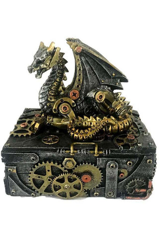 Secrets of the Machine Steampunk Dragon Box 18.5cm | Angel Clothing
