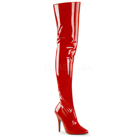 Pleaser SEDUCE 3010 Boots Red | Angel Clothing