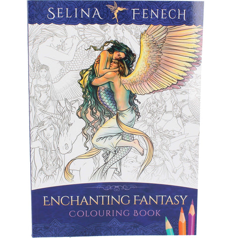 Selina Fenech Enchanting Fantasy Colouring Book - Angel Clothing