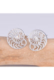 Seventh Sense Nautilus Stud Earrings Silver | Angel Clothing