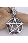 Seventh Sense Silver Pentagram Moon Star | Angel Clothing