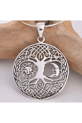 Seventh Sense Tree of Life Pendant Silver | Angel Clothing