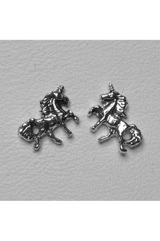 Seventh Sense Unicorn Stud Earrings Silver | Angel Clothing