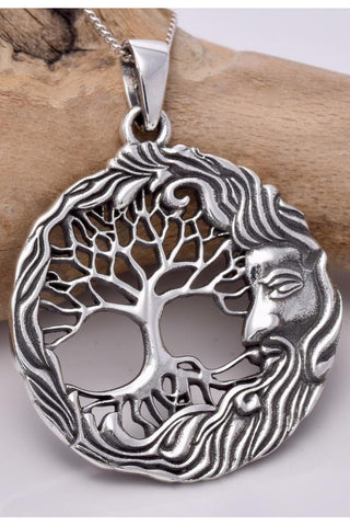 Seventh Sense Wiseman Tree of Life Silver Pendant | Angel Clothing