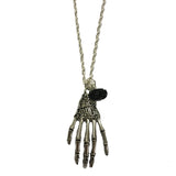 Skeleton Hand and Rose Necklace | Angel Clothing