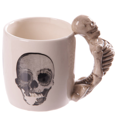 Skeleton Handle Gothic Skull Mug, Gift Boxed - Angel Clothing