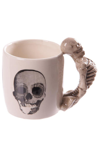Skeleton Handle Gothic Skull Mug, Gift Boxed | Angel Clothing