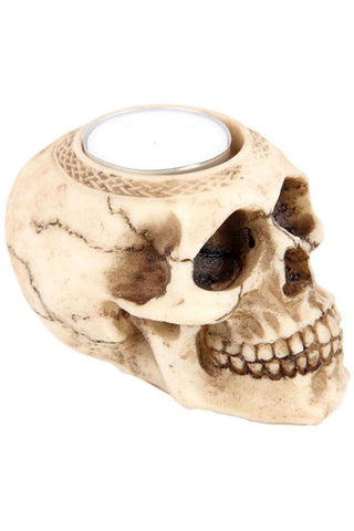 Skull Tea Light Holder A | Angel Clothing