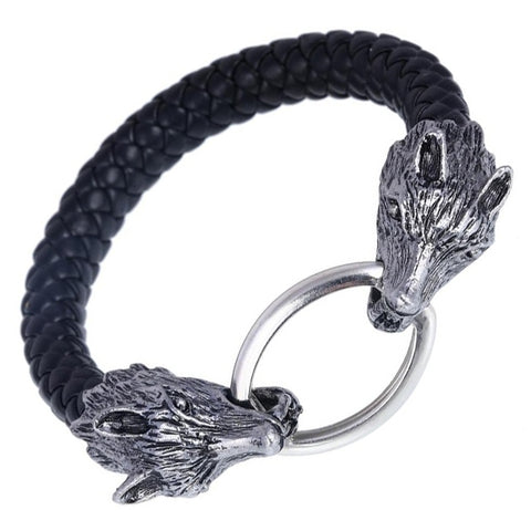 Wolf Head Rope Bracelet | Angel Clothing