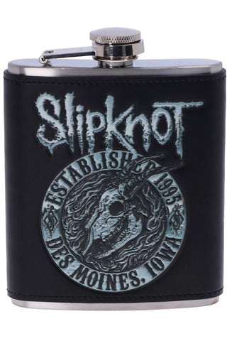 Slipknot Flaming Goat Hip Flask | Angel Clothing
