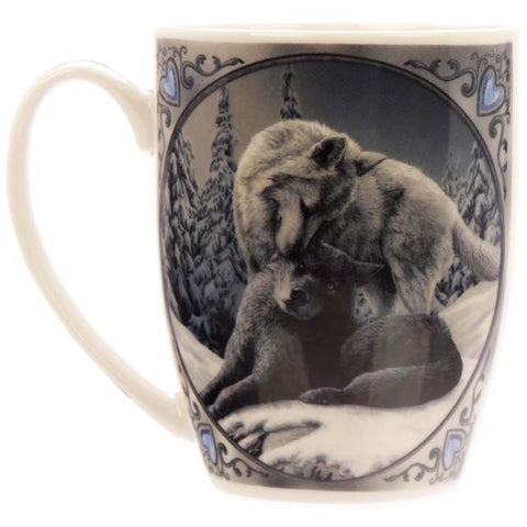 Snow Kisses Wolf Mug by Lisa Parker - Angel Clothing