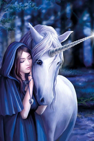 Anne Stokes Solace Unicorn Card | Angel Clothing