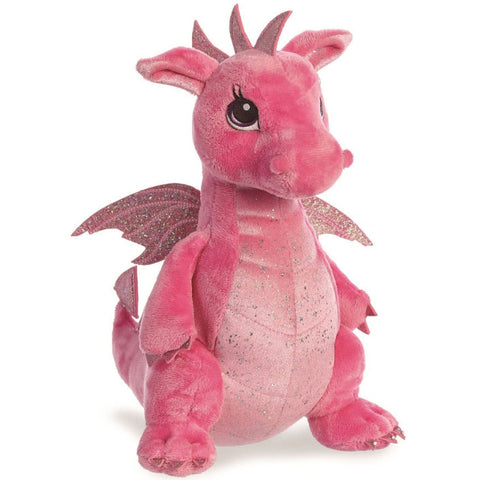 Sparkle Tales Dahlia Pink Dragon 12 inch Plush | Angel Clothing