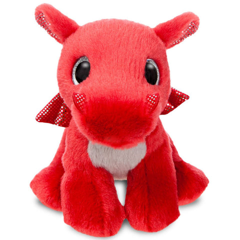 Sparkle Tales Flame Red Dragon 7 inch Plush - Angel Clothing