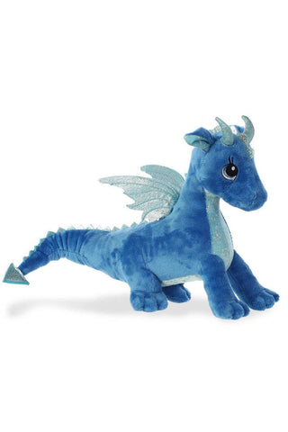Sparkle Tales Indigo Blue Dragon 12 inch Plush | Angel Clothing