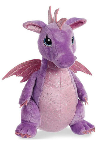 Sparkle Tales Larkspur Purple Dragon 12 inch Plush | Angel Clothing