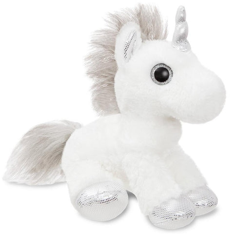 Sparkle Tales Twilight Unicorn Silver 12 inch Plush | Angel Clothing