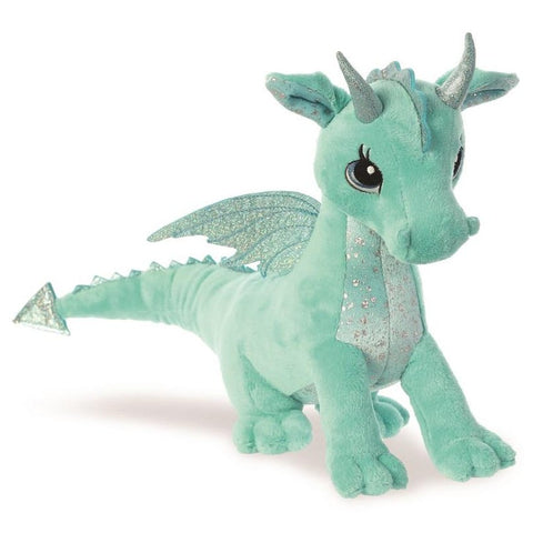 Sparkle Tales Willow Aqua Dragon 12 inch Plush | Angel Clothing