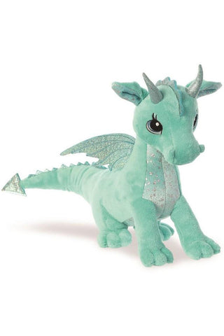 Sparkle Tales Willow Aqua Dragon Plush | Angel Clothing