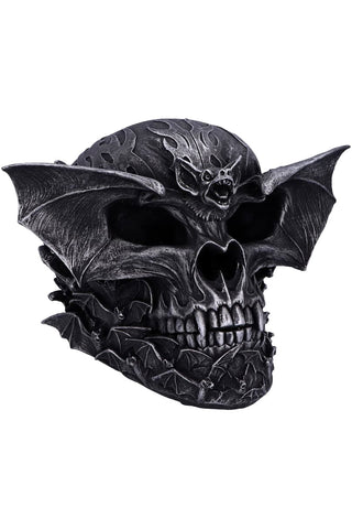 Spiral Dark Gothic Bat Skull | Angel Clothing
