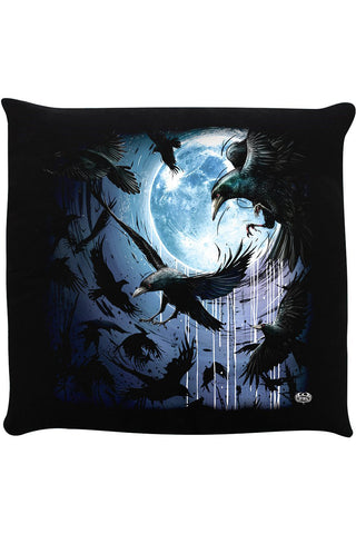 Spiral Crow Moon Cushion | Angel Clothing