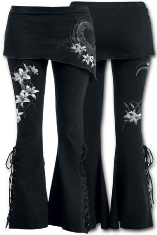 Spiral Direct Pure of Heart 2 in 1 Boot Cut Leggings with Micro Slant Skirt | Angel Clothing