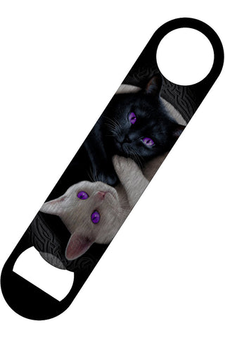 Spiral Yin Yang Cats Bottle Opener | Angel Clothing