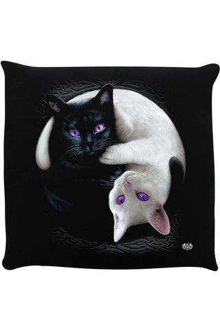 Spiral Yin Yang Cats Cushion | Angel Clothing