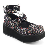 Demonia SPRITE-02 Shoes Floral | Angel Clothing